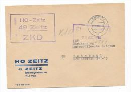 Brief Zentraler Kurier Dienst- Zeitz ( Bc 1007 ) Siehe Scan - [6] République Démocratique
