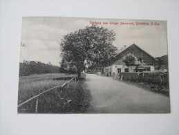 Postkarte 1914 Gasthaus Zum Lustigen Scherenwirt, Dreistätten, N.-Öst. Verlag Friedrich Menschick, Gutenstein - Gutenstein