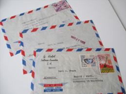 Ecuador 1960er Jahre Luftpostbriefe Nach Deutschland. Clipper - Ecuador
