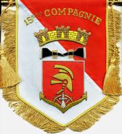 FANION DES SAPEURS POMPIERS POMPIERS DE PARIS LA 15� COMPAGNIE (CANETILLE) ETAT EXCELLENT