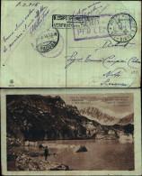 77594)CARTOLINA Paesaggio Alpino-vari Annulli  Posta Militare  Per Noto(sr) 10-3-1916 Sonetto A. Fogazzaro - Guerre 1914-18