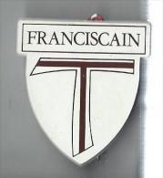 Religieux/ Ecusson de P�re Franciscain/ Plastique/Vers 1960    CAN160