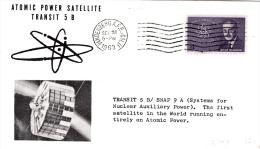 SPACE - USA - 1963 - TRANSIT 5B  ATOMIC   SATELLITE   COVER  WITH  VANDENBERG   POSTMARK * - United States