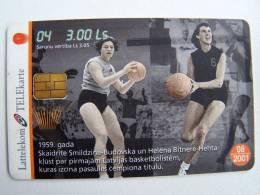 Chip Phone Card BASKETBALL #4 From LATVIA Lettonie Lettland Carte Karte Woman Players - Latvia
