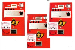 BELGIQUE - 9 Cartes - 1984 - ATM57/59 - 10F / 12F / 22F  Namur - Eupen - Antwerpen - Franking Machines