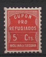 MOLINA DE SEGURA, Sello Local, 5cts , No Usado - Viñetas De La Guerra Civil