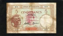 Rare Nouvelles Hébrides 5F Walhain Avec Surcharge Type 1926 - Banknotes