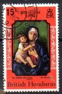 BRITISH HONDURAS 1969 Christmas. Paintings - 15c The Virgin And Child (Bellini)  FU - British Honduras (...-1970)