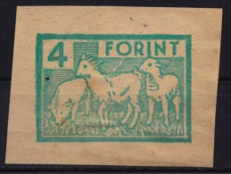 1970´s Hungary - Lamb / Sheep / Pig - REVENUE TAX Stamp - Animal HORSE Passport - CUT - Agriculture