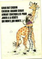 Illustrateur Gros Rat Coquin Cherche Grande Girafe Aimant Chatouilles Pour Jouer à La Bebete Qui Mont  Recto Verso  Lyna - Girafes