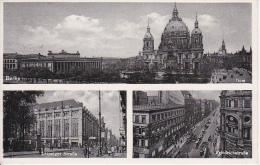 """AK Berlin - Dom, Leipziger Straße, Friedrichstraße - Werbestempel """"Verwende Wohlfahrtsbriefmarken"""" - 1932 (5912) - Mitte"""