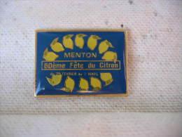 Pin�s de la 60eme fete du citron � MENTON (du 20 f�vrier au 7 mars)