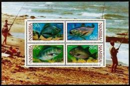 NAMIBIA, 1994, Mint Never Hinged Block Nr.18 , Coastal Fishing , #6901 - Namibia (1990- ...)