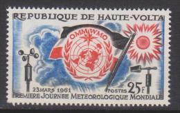 Haute-Volta N° 93 *** 1ère Journée Météorologique Mondiale - OMM WMO - 1961 - Haute-Volta (1958-1984)