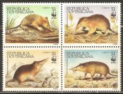 Dominican Republic 1994 Mi# 1698-1701 ** MNH - Block Of 4 - WWF / Solenodon Paradoxus - Unused Stamps