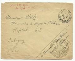 F.M. De Chalons Sur Saone  Bataillon De Chasseur- Medecin Chef 1916 Pour Aubigny Cher - Guerre De 1914-18
