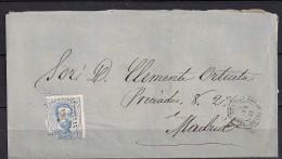 1872, ENVUELTA CIRCULADA DE RUA DE VALDEORRAS  A MADRID, 10 CUARTOS, ED. 121 - 1872-73 Königreich: Amédée I.