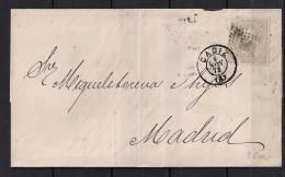 1872, ENVUELTA CIRCULADA DE CADIZ A MADRID, 12 CUARTOS, ED. 122 - 1872-73 Königreich: Amédée I.