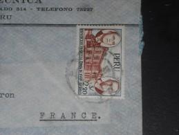 LETTRE PEROU PERU AVEC YT PA 124 - RENE COTY - MANUEL PRADO - - Pérou
