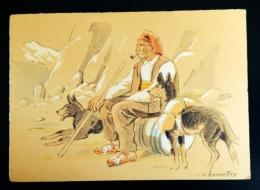 CPSM 1942 ILLUSTRATEUR BONNEFOY Le Vieux Contrebandier Douane Montagne Chien - Non Classés
