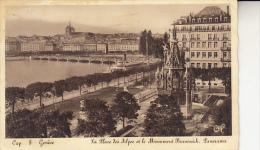 Geneve La Place Des Alpes Et Le Monument Brunswick - GE Genève