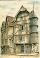 Barré-Dayez  Troyes La Tour De L'Orfèvre Rue Champeaux Illustrateur Dumarais Cpsm Format 10-15 - Illustrateurs & Photographes