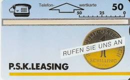 TARJETA DE AUSTRIA CON UNA MONEDA (COIN-MONEDA)  DUMMY - Sellos & Monedas