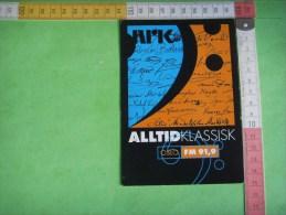 68 )nrk  Alltid Klassisk  Oslo Fm 91,9 - Werbepostkarten