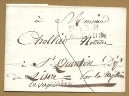 Pas Trés Connaisseur - Cursive Linéaire . P.43.P. ORLEANS - 1801-1848: Precursores XIX