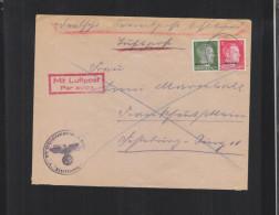 Dt. Reich Ostland Luftpost Brief Reval - Occupazione 1938 – 45
