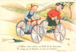 POSTAL    CICLISTAS  ( FENIX TARJETAS POSTALES ) - Niños
