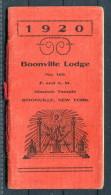 1920 USA New York Boonville Masonic Lodge Membership Booklet - Historical Documents