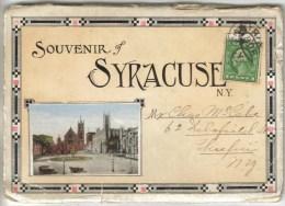 LIVRET CARTE LETTRE CONTENANT 20 VUES FORMAT CPA SYRACUSE (Etats Unis-New York) - Syracuse