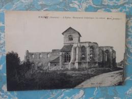 Cpa FALVY - L'église, Les Ruines Après Guerre - - Autres Communes
