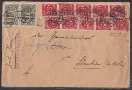DR Brief Mif Minr.9x 252,3x 254,20x 269 Herne 28.8.23 Bpst. Köln-Hannover - Briefe U. Dokumente