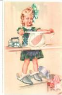POSTAL   PLANCHANDO   (  WIENER KUNST, ART.  620/9 ) - Niños