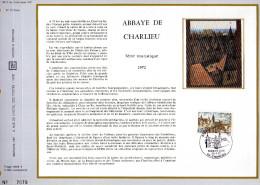 Feuillet Tirage Limité CEF 198 Soie Abbaye De Charlieu - France
