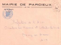 2825 TREVOUX Ain Lettre En Franchise Hexagone Pointillé Poste Auto Rurale C P N° 5 Lautier  G6   Ob 8 9 1966 - Postmark Collection (Covers)