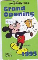 Télécarte Japon (4283) DISNEY Phonecard Japan * Telefonkarte Japan * THE DISNEY STORE * 110-171582 * TIRAGE 5.000 - Disney
