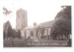 RP WRENTHAM CHURCH AND WAR MEMORIAL SUFFOLK NR KESSINGLAND SOUTHWOLD UNUSED