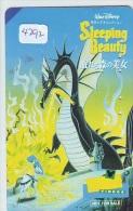 Télécarte JAPON * DISNEY (4292) Phonecard Japan * TELEFONKARTE * SLEEPING BEAUTY * CINEMA * FILM * Bleached By The Sun - Disney