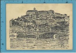 COIMBRA - VISTA - Desenho De CARLOS LOBO - Portugal - 2 SCANS - Coimbra