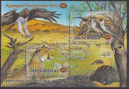 South Africa 2001 Kgalagadi Park Eagle Deer Cheetah Bird  Miniature Sheet MNH - Non Classificati