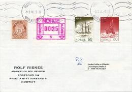 NORVEGE - 12 Enveloppes Affranchissements Composés Mixtes Timbres + Etiquette Frama - 1981 - ATM - Frama (Verschlussmarken)