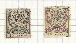 Turquie N°44,45 Cote 16.25 Euros - 1858-1921 Imperio Otomano