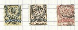 Turquie N°46 à 48 Cote 8.25 Euros - 1858-1921 Ottoman Empire