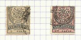 Turquie N°50,51 Cote 4 Euros - 1858-1921 Imperio Otomano