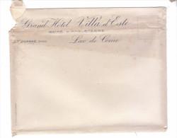 Enveloppe Grand Hotel Villa Este Lago De Como Lac De Come - Vieux Papiers