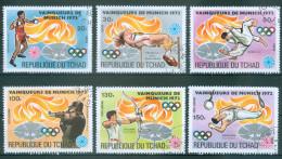 TSCHAD - Mi-Nr. 627 - 632 Sieger Der Olympischen Sommerspiele, München Gestempelt - Sommer 1972: München
