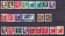 1945 TRIESTE AMG VG IMPERIALE ALLEGORICI  LOTTO NUOVO MNH E USATO - 7. Trieste